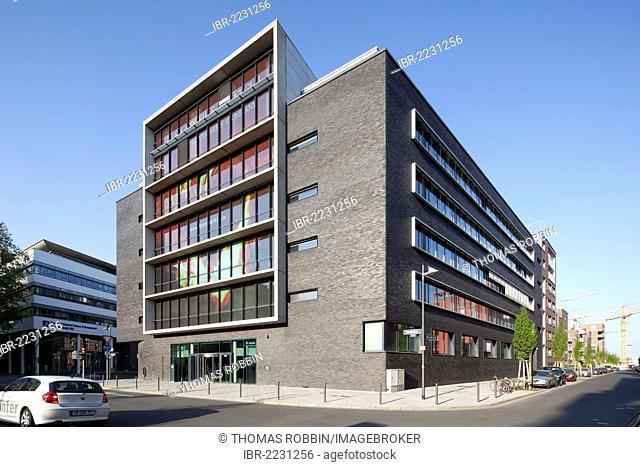 Office building on Uhlandstrasse street, Ostend, Frankfurt am Main, Hesse, Germany, Europe, PublicGround