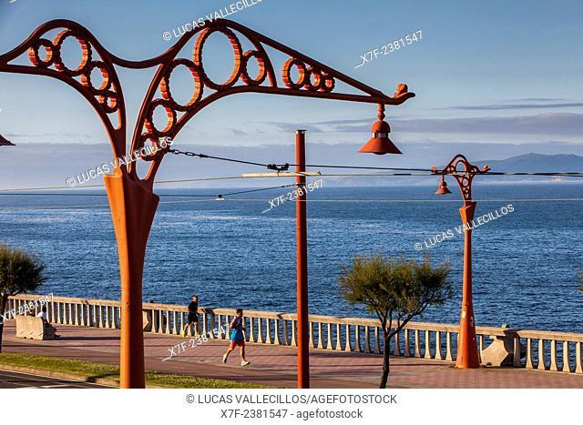 Lamppost, by Julia Ares, Paseo Alcalde Francisco Vazquez, Coruña city, Galicia, Spain