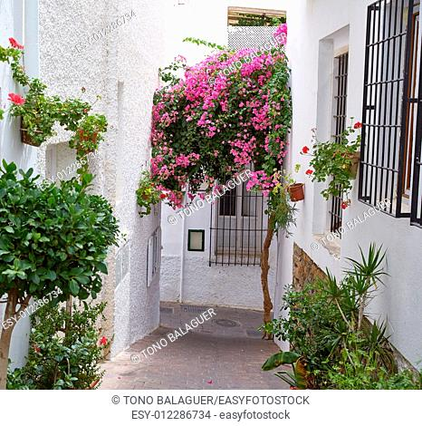 Mojacar Almeria white Mediterranean village in Spain