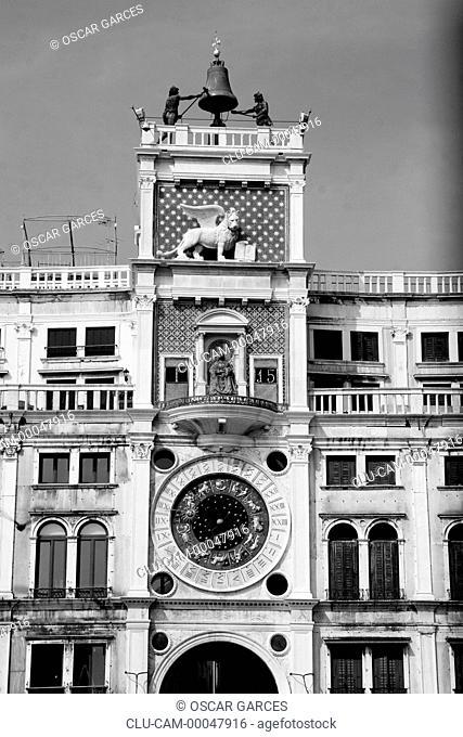 Tower dell'Orologio, Venice, Veneto, Italy, Western Europe