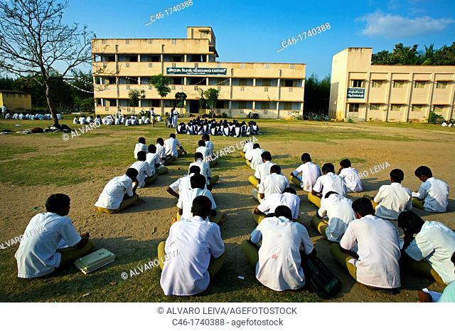 School near Pondicherry, Tamil Nadu, India
