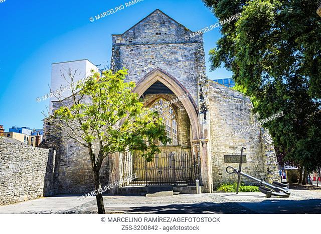 Holyrood Church, Holy Rood Church. Destroyed by enemy bombing in November 1940. In 1957, the shell of the church was dedicated as a memorial to the sailors in...