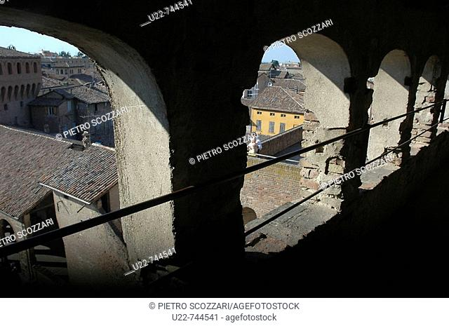 Vignola Modena, Italy, view of the town from the top of the Castle