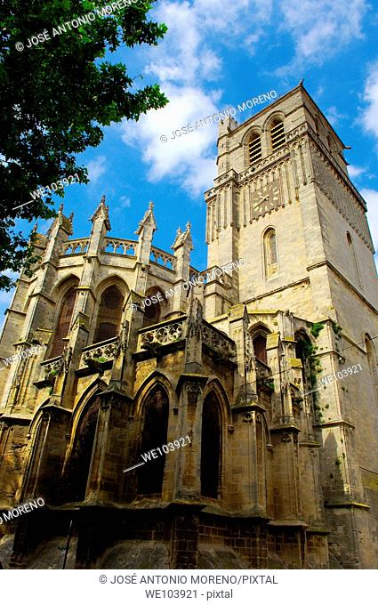 Saint-Nazaire cathedral, Beziers, Herault, Languedoc-Roussillon, France