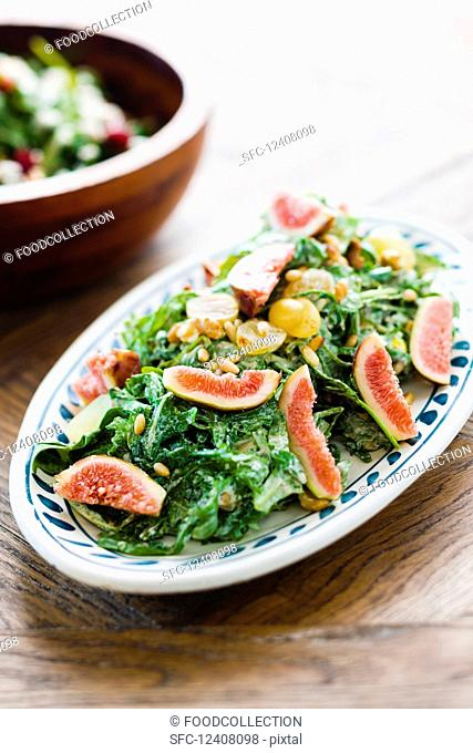 A fig and grape salad