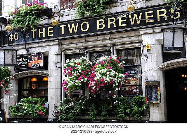 The pub The Two Brewers, Covent Garden, London. United Kingdom