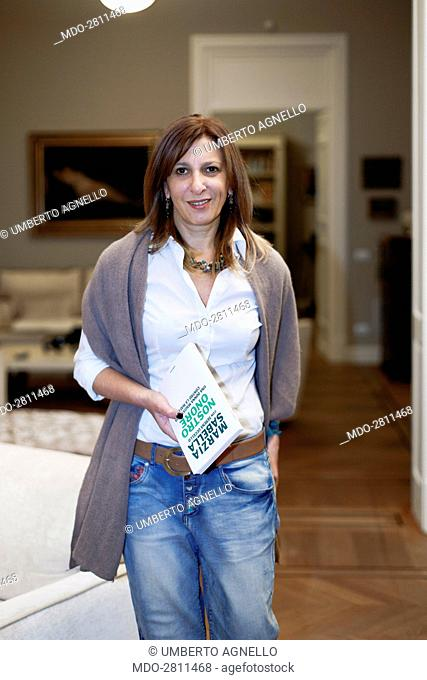 The deputy state attorney and Antimafia Commission consultant Marzia Sabella holding the book she wrote with the journalist Serena Uccello about her judge life...