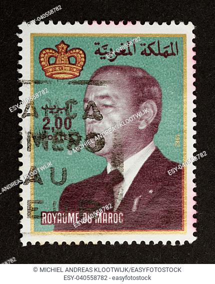 MAROCCO - CIRCA 1970: Stamp printed in Marocco shows a local leader, circa 1970
