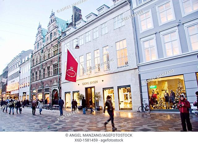 Georg Jensen Museum & Royal Copenhagen of Procelain shops on Stroget street