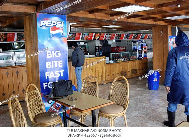 Fast food restaurant Of Hotel Hill Top Gulmarg ; Jammu & Kashmir ; India