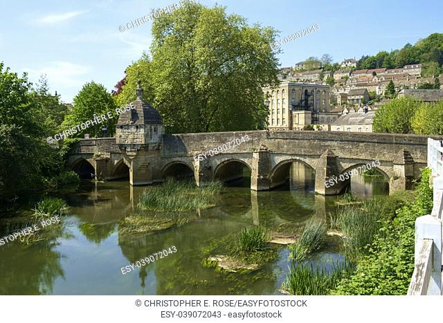 Historic Town Bridge and Lock-up, Bradford-on-Avon, Wiltshire, UK