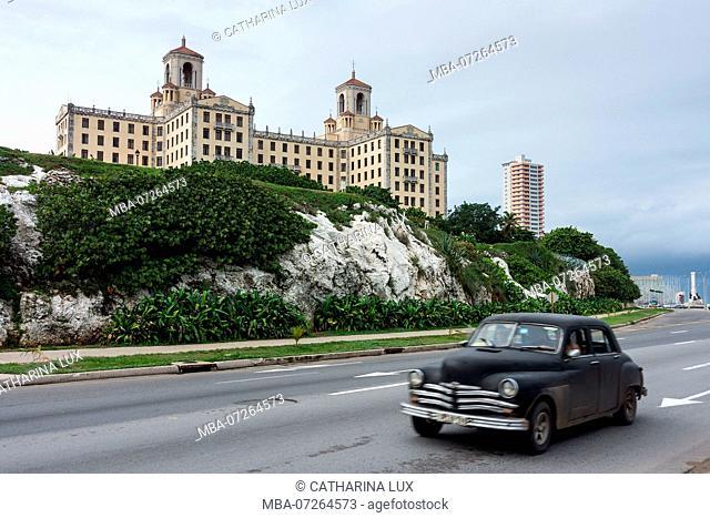 Cuba, Havana, Malecon, Hotel 'National'