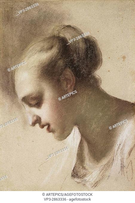 Rosalba Carriera. Study of a female head. Hermitage State Museum - St Pétersburg
