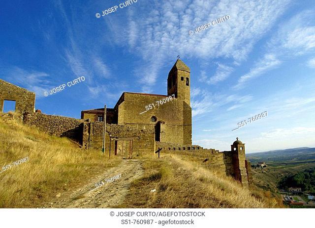 Castillo y iglesia de Santa Maria la Mayor, San Vicente de la Sonsierra, La Rioja, Spain