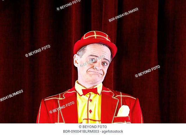 portrait of clown on stage