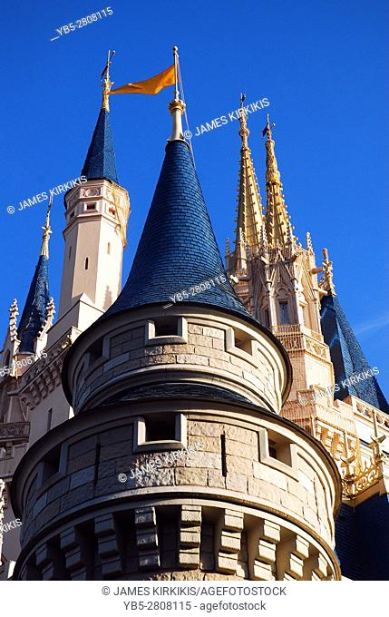 The whimsical architecture of the Cinderlla Castle, Walt Dinsey World