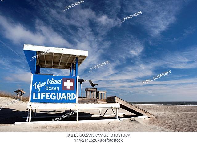 Tybee Island Lifeguard Station - Tybee Island, Georgia USA