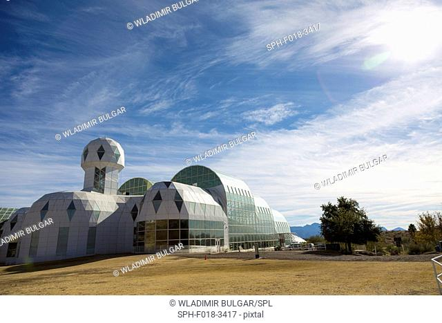 Biosphere 2, an Earth systems science research facility owned by the University of Arizona since 2011. Tucson, Arizona, USA