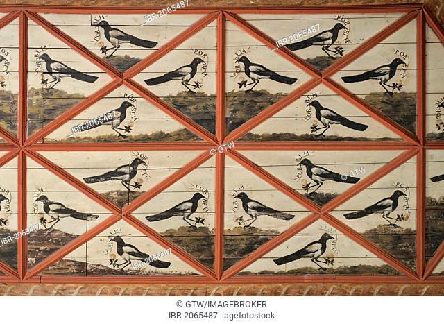 The Magpie Room, Sintra National Palace, Sintra, Unesco World Heritage Site, Lisbon, Portugal, Europe