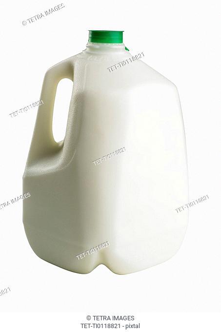 A gallon bottle of milk