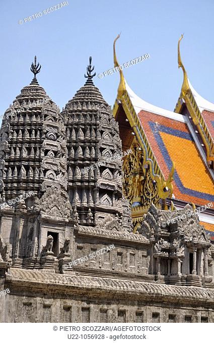 Bangkok (Thailand): an Angkor Wat's replica in miniature at the Wat Phra Kaew
