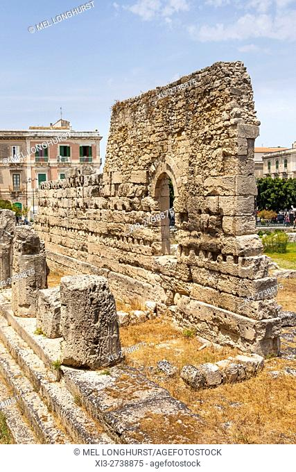 Temple of Apollo, Tempio Di Apollo, Ortygia, Syracuse, Sicily, Italy