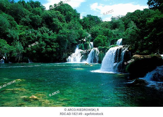 Krka waterfalls, national park Krka, Dalmatia, Croatia