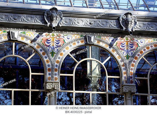 Glass palace Palacio de Cristal, Buen Retiro Park, Madrid, Spain