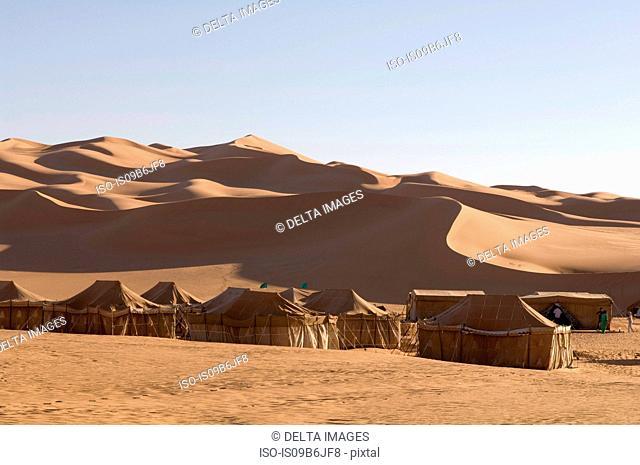 Tented camp, Erg Awbari, Sahara desert, Fezzan, Libya