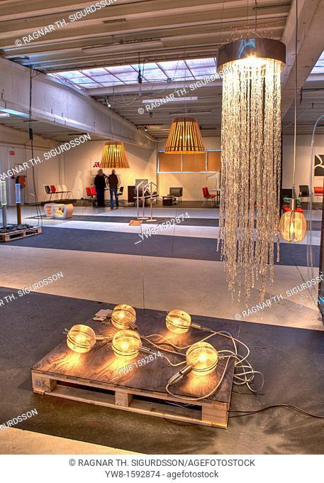 Lighting at Design Exhibition, Reykjavik Iceland
