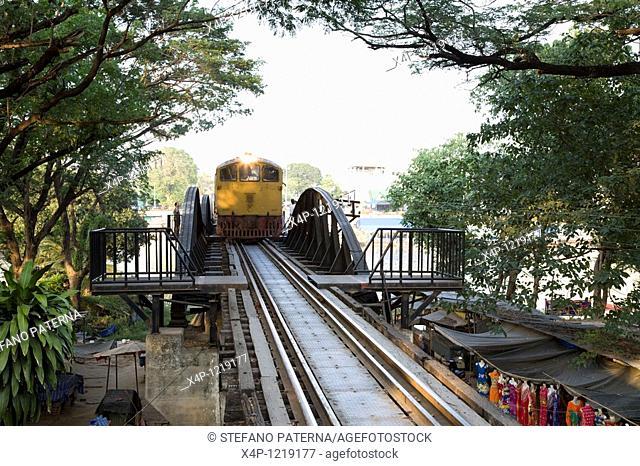 River Kwai-Bridge Death Railway, Khwae Yai River. Kanchanaburi, Thailand