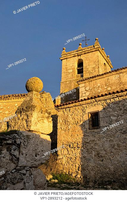 Church of the town of Roturas. Province of Valladolid. Ribera del Duero. Spain