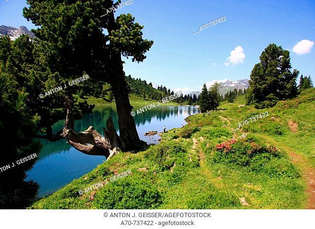 Engstlensee lake. Haslital. Berner Oberland. Switzerland