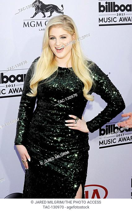Singer Meghan Trainor arrives at the 2015 Billboard Music Awards at the MGM Grand Garden Arena on May 17, 2015 in Las Vegas, Nevada