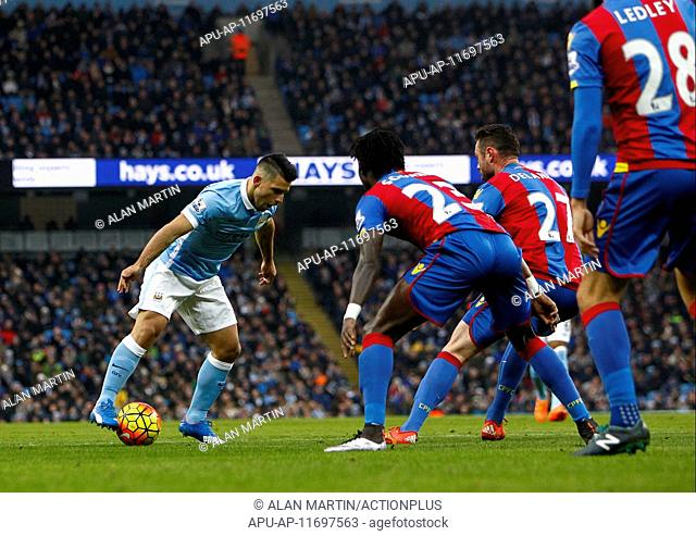 2016 Barclays Premier League Manchester City v Crystal Palace Jan 16th. 16.01.2016. The Etihad Stadium, Manchester, England. Barclays Premier League