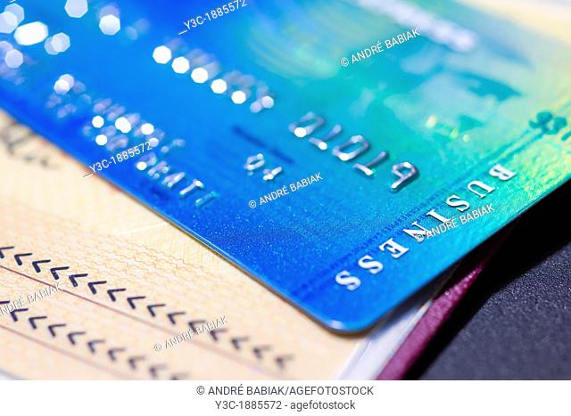 Close up of American Express Business Credit Card on Passport