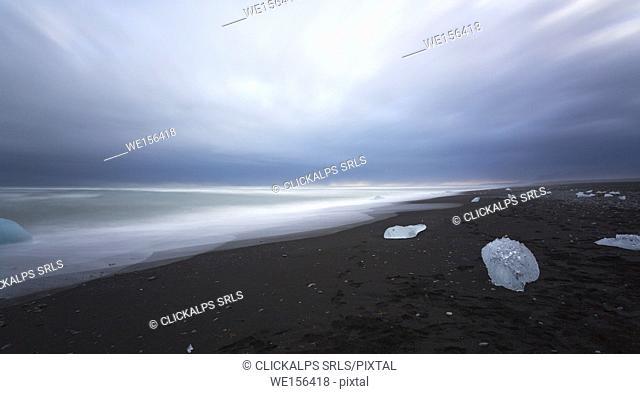 Europe, Iceland, Jökulsárlón, Vatnajökull, Skaftafell National Park