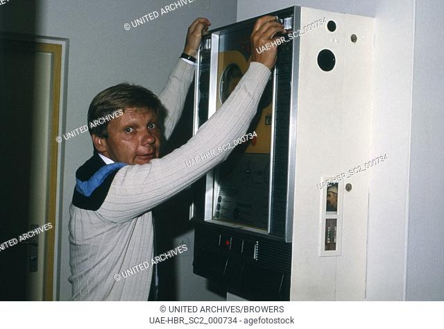 Der deutsche Schauspieler Frithjof Vierock, Deutschland 1980er Jahre. German actor Frithjof Vierock, Germany 1980s. 24x36Dia153