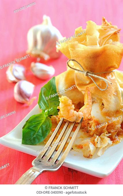 Shrimp and calamari pastry