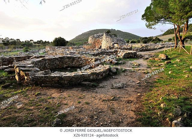 Villaggio nuragico Palmavera  Palmavera Nuraghe village  15th century B C  to 8th century B C  Alghero, island of Sardinia, Sassari province, Italy, Europe
