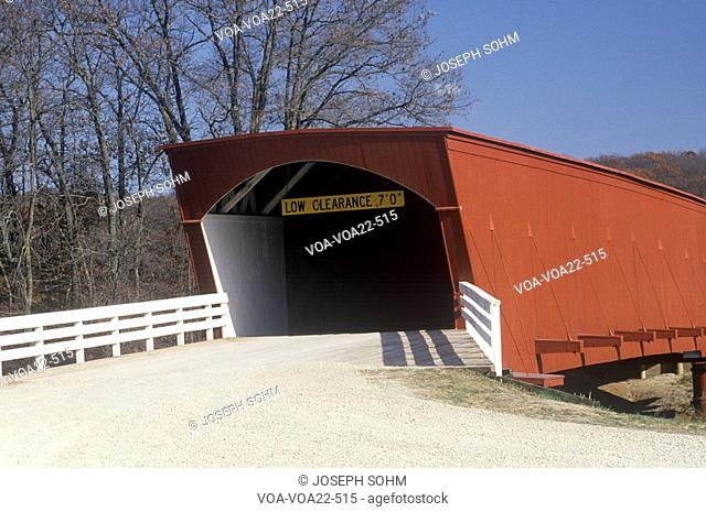 The Hogback Covered Bridge in Madison County, Iowa