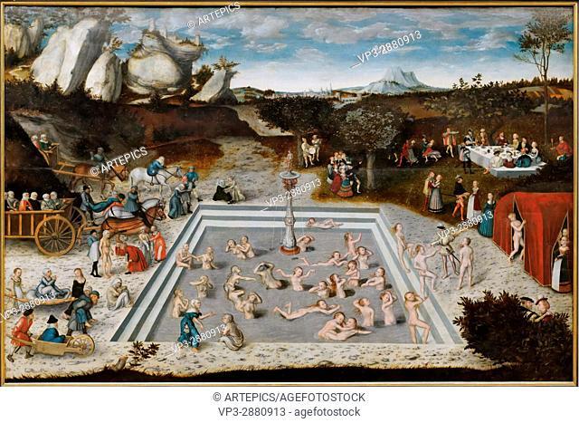 Lucas Cranach - The Fountain of Youth - 1546 - XVI th Century - German School - Gemäldegalerie - Berlin