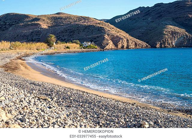 Las Negras scenics, in the heart of Cabo de Gata natural park, Almeria, Spain