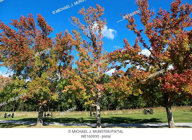 Pea Ridge Battlefield in Arkansas. USA