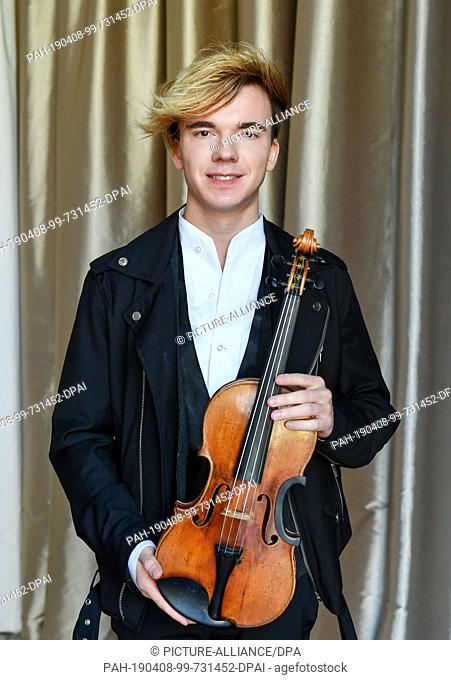 08 April 2019, Berlin: The violinist Yury Revich, an Austrian violinist of Russian origin, will take part in a press conference on the plans of the upcoming...