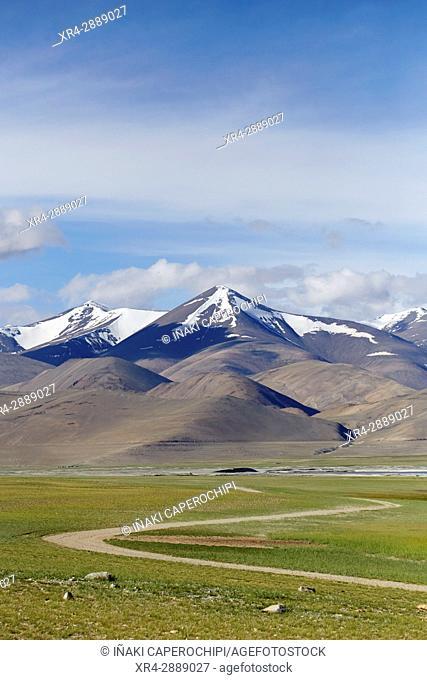 Surroundings of Lake Tso Kar, Ladakh, India