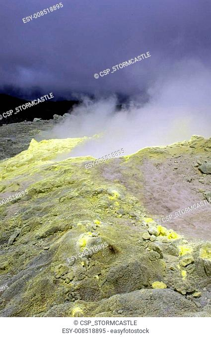 Sulfur from a Galapagos Volcano