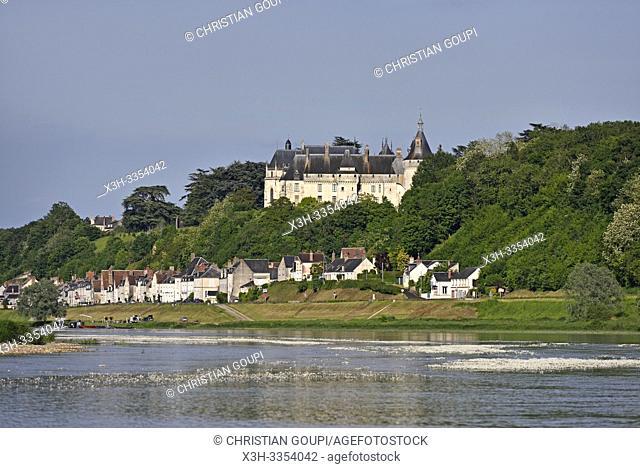 Chateau dominant la Loire, Domaine de Chaumont-sur-Loire, departement Loir-et-Cher, region Centre-Val de Loire, France, Europe/ the Chateau overlooking the...