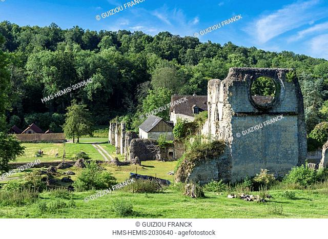 France, Eure, Lisors, Mortemer Abbey is a former Cistercian monastery founded in 1134