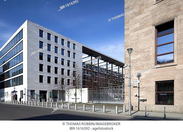 Federal Foreign Office, old and new building, former Reichsbank and Ministry of Finance of the GDR, Mitte district, Berlin, Germany, Europe